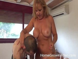 Cheating wife enjoys having sex with her husband with an increment of his friend