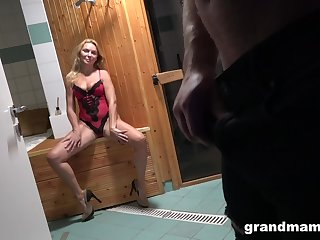 Young Alfonso is fucking interesting aged unfocused in sexy lingerie