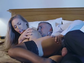 Wife's wet cunt feels perfect when the monster slides with regard to