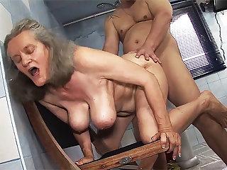 busty 83 years old nurturer rough fucked