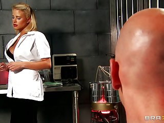 Lucky alms-man gets his dig up pleasured by blonde nurse Jessica Nyx