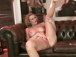 Penny Lee pantyhosed4u - solo, blonde, nylon, heels, pantyhose, softcore, british, dirty hail