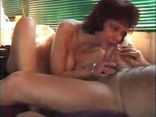 Hot older lady sucking dick rimming coupled with drink cum