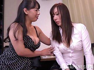 Japanese lesbian sex between Ryouko Murakami and her sweetheart