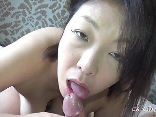 Chubby asian mature Creampie