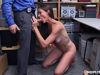 Video be proper of mature Sofie Marie getting fucked at the end of one's tether a security protector