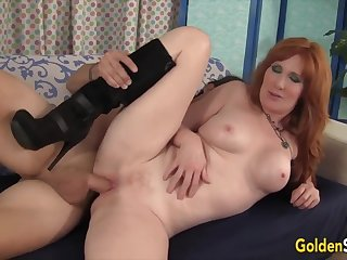 Sexy age-old women enjoy their pussies getting fucked deep and good with changeless dicks