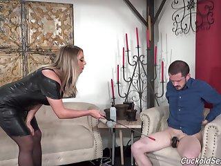 Cuck watches Negroid men do Kayley Gunner respecting raw passion