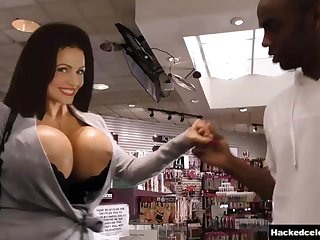 Buxom MILF Denise Milani - Gloryhole interracial hardcore with monster cock
