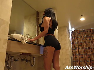 Ass worship connected with Bit of crumpet Lily Lane
