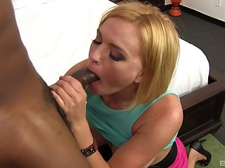 Krissy Lynn collects cum more than her chin after a hot BBC bang