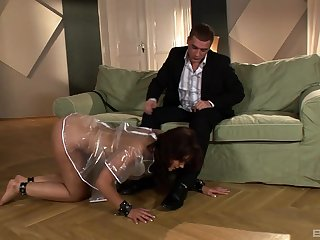 Curvy doll rides her master in insane modes