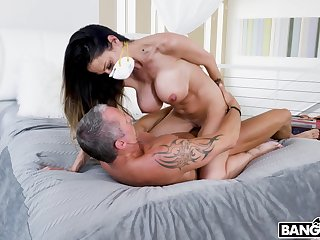MILF rides cock in strenuous intimacy at home