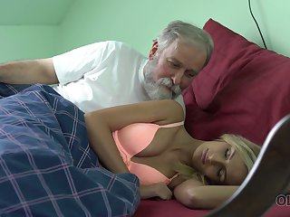 Old dude licks and fucks pussy of appealing kept woman Jenny Smart