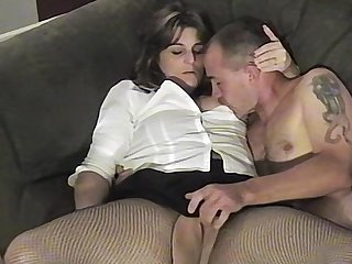 This unmoved by brunette become man couldnt wait to suck and fuck her husband on camera
