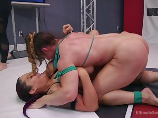 Stunning cat fight ring porn nigh two insolent milfs