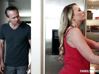Toff fucks bootylicious stepdaughter Adira Allure in front be incumbent on at rest wife