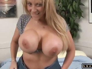 Huge tits MILF takes 2 beast black cocks
