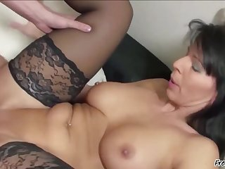 Beautiful Mature Woman With Scrupulous Interior Plus Bald Pussy Fucked By Younger Guy